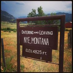 "Just about sums up the size of most ""towns"" in Montana!"