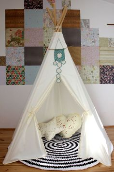 #pacztipi #pacz #teepee #tipi #wigwam #tent #crochet #pillows #stars #clouds #radosnafabryka #handmade Kids Room, Toddler Bed, Room Decor, Interior Design, Cool Stuff, Cotton, Furniture, Home, Nest Design