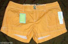 Mini Short Shorts New Size 15 Juniors Orange Daisy 23XY23 | eBay
