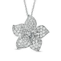 Dazzling Diamond Flower Pendant