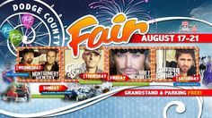 Concerts and more at the 2016 Dodge County Fair near Beaver Dam WI