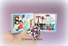 Alice's Alphabet, libro abecedario en inglés, escala 1/12 miniatura para casas de muñecas. de ElRincondeMati en Etsy