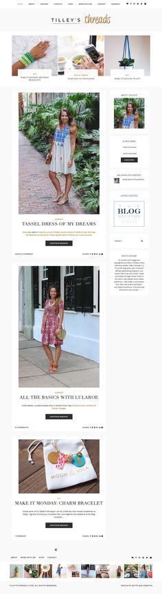Tilley's Threads Blog Design By White Oak Creative