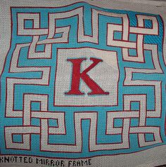 knotted frame monogram pillow by Jenny Henry Designs, via Flickr