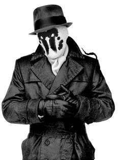 Make a Rorschach costume with items from Thriftique!