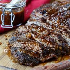 This Oven-Barbecued Beef Brisket is so smokey and flavorful no one will ever guess it wasn't cooked on the grill! Tender and juicy!