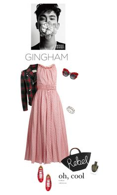 """Rebel"" by iriadna ❤ liked on Polyvore featuring Gucci, Gül Hürgel, Dolce&Gabbana, Alexander Wang, Eugenia Kim, Spring, plaid, gingham, motojackets and sneakerstyle"