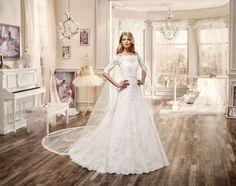 Vestidos de novia con hombros caídos 2016: La mejor selección para tu look nupcial Image: 12