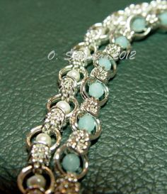 Free Chainmail Patterns Chain Maille | Sterling Silver Segmented Chain Maille Bracelet | OSebastian - Jewelry ...