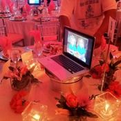 OMG!  What a great idea for a school fundraiser!  Must do assigned seating though ahead of time.  - Charity Auctioneer Jim Miller - Professional Charity & Benefit Auction Consultant - Auction Photo Gallery - AuctionCenterpieces