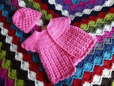 LINDEVROUWSWEB: Gehaakt Baby Jurkje