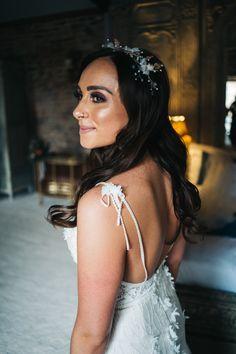 Beautiful Hair Piece for Bride | By Sally T Photography | French Wedding | Chateau Wedding | Destination Wedding | Rustic Wedding | Bridal Accessories | Bridal Hair Piece | Bridal Hair | Wedding Hair | Wedding Accessories | Bridal Makeup