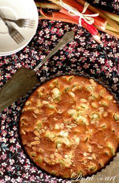 Dora´s art: Rebarborovo-medový koláčik