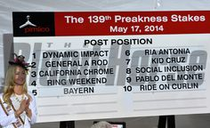 Linsey Toole applauds at the completion of the Post Position Draw for Saturday's 139th Preakness Stakes. Skip Dickstein Photo