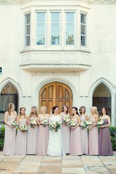 dusty rose bridesmaids | Mark Eric Photography | Glamour & Grace