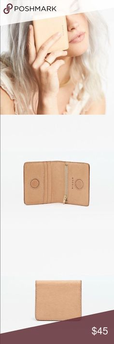Nisolo mini wallet This wallet is so stunning and really high quality. It's from their new vachetta colletion. Nisolo Bags Wallets