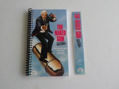 Notebook, 4.00 X 7.50, 90 pages, VHS Notebook, Movie Blank Book, Movie Notepad, Spiral Notebook, Drawing, Matching Bookmark, The Naked Gun by LeeEmporium on Etsy
