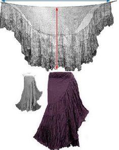 Sewing Skirts Ruffled Wrap skirt dress by Ирина Дубровская Diy Clothing, Sewing Clothes, Clothing Patterns, Gypsy Clothing, Sewing Patterns, Simple Clothing, Steampunk Clothing, Steampunk Fashion, Dress Skirt