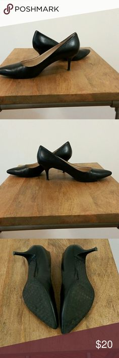 Nine West Black Leather Pumps Size 9.5 Worn only once or twice but in very good condition Nine West Shoes Heels