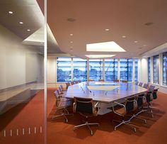 You're gonna need a spacious conference room when you grow! Check out more #workspace #inspiration from the Macquarie Group offices in London.