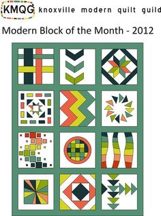 block of the month. Free patterns on flickr.