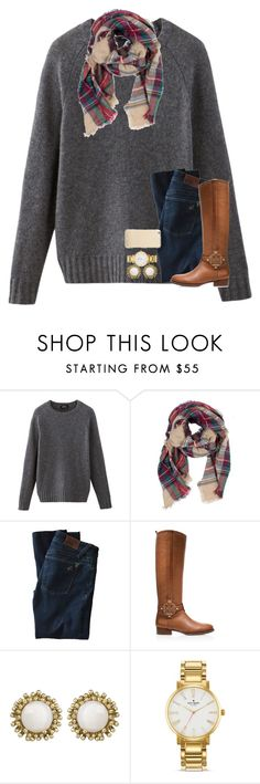 """""""My 1k contest! Read d!!"""" by preppy-ginger-girl ❤ liked on Polyvore featuring A.P.C., DL1961 Premium Denim, Tory Burch, Kendra Scott, Kate Spade, women's clothing, women's fashion, women, female and woman"""
