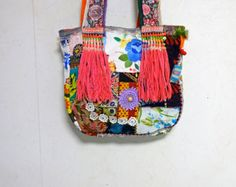 Bohemian Vintage Patchwork Tote bag by ApricotCircus on Etsy