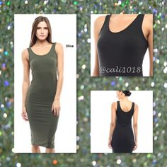 ⚡️⚡️FLASH SALE ONE HOUR ONLY REG $29⚡️⚡️ ⚡️⚡️FLASH SALE ONE HOUR ONLY NO ADDITIONAL DISCOUNTS OR OFFERS APPLY DURING THIS TIME EVEN IF BUNDLED NO EXCEPTIONS⚡️⚡️The Perfect Olive Sleeveless Seamless Tank Dress S/M/L Material: 87% Polyester 13% Spandex Made in Imported Color: Olive Size: Small, Medium, Large Fits true to size with a lot of stretch Measurements: TBD Glam Squad 2 You Dresses Midi