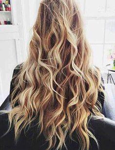 Beach Hair :: Natural Waves :: Long + Blonde :: Summer Highlights :: Messy…