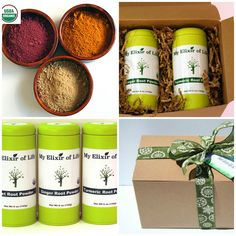 Healthy Gift Option|Organic Super Root Gift Set-Beet Root Ginger Root by ElixirofLife
