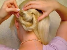 Wedding hairstyles for long hair tutorial Quick easy elegant updo Bridal prom bun autumn fall 2011 | PopScreen