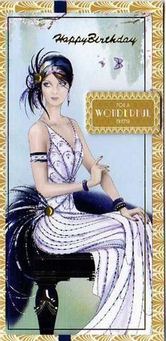 Art Deco Lady with Black Feathers Art Deco Illustration, Illustrations, Art Deco Stil, Art Deco Era, Arte Fashion, Art Deco Fashion, Art Nouveau, Victorian Women, Victorian Fashion