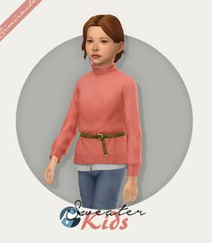 """simiracle: """"Sweater With Belt - Kids Version ♥ 𝗦𝗻𝗼𝘄𝘆 𝗘𝘀𝗰𝗮𝗽𝗲 𝗶𝘀 𝗿𝗲𝗾𝘂𝗶𝗿𝗲𝗱!!! converted from adults 16 swatches [Mediafire]"""" Sims 4 Mac, Sims Cc, Maxis, Sims 4 Game Mods, Sims Mods, Star Butterfly Outfits, Sims 4 Stories, Pelo Sims, Sims 4 Children"""