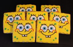 Spongebob sugar cookies jsweetstreats.vpweb.com or FB- Jsweets Treats
