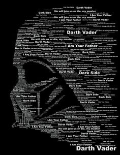 Darth word cloud