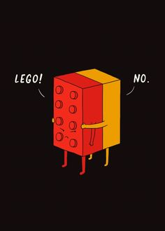 COLOR Thumps — bestof-society6:     I'll never lego by I Love...