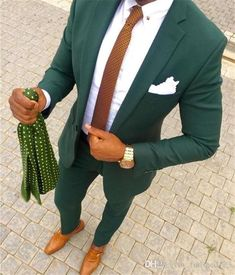 Handsome Terno Masculino Green Men Casual Suit Set Slim Fit Tuxedo For Men Groom Wedding Suits Prom Blazer Outfits Casual, Casual Suit, Stylish Suit, Dress Outfits, Groom Tuxedo, Tuxedo For Men, Mens Fashion Suits, Mens Suits, Black Prom Suits