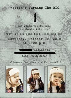 """Time Flies"" Airplane-Themed First Birthday Party 
