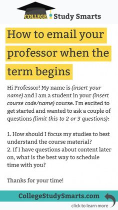 Working with your professor can feel intimidating, but it is your best resource for every course. Your professor created College Life Hacks, High School Hacks, Life Hacks For School, School Study Tips, College Fun, College Students, College Tips, School Tips, College Planner