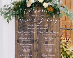 Wedding party sign - welcome sign - wedding program sign - Wedding Program Sign - Ceremony Sign - Wedding Party Sign - Wooden Wedding Signs - Wood - Bridal Party