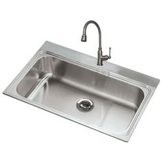 Awesome American Standard 20 Gauge Single Basin Drop In Or Undermount Stainless  Steel Kitchen Sink