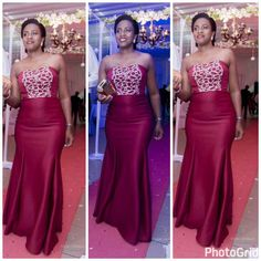 2d558c569 Enter with confidence Maroon dress with a detail of gold suitable to go for  any wedding Tailored by KalynAtwoo from Uganda Kampala