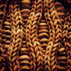 Fiber texture. Drop Stitch pattern via lionbrandyarn.com #knitting #knit #yarn #pattern