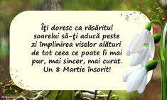 Un 8 Martie însorit! 8 Martie, God Prayer, Prayers, Day, Crafts, Inspiration, Wallpaper, Beauty, Biblical Inspiration