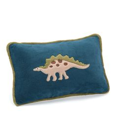 Dino Blue Dinosaur Pillow by Berkshire Blanket #zulily #zulilyfinds
