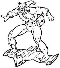 spiderman hobgoblin coloring pages | The super villain Green Goblin coloring page | Coloring ...