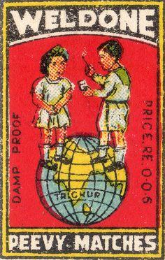 Weldone Peevy Matches, vintage label