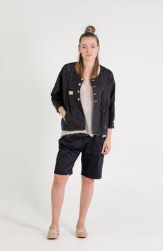 Umit Unal   Et Vous   Linen Jacket With Stitch Detail