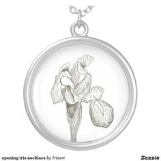 opening iris necklace