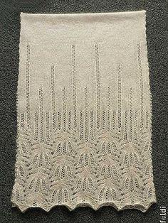 Panna Frost Flower Lace Shawl pattern by Foldi knit - Knitting Lace Knitting Patterns, Shawl Patterns, Lace Patterns, Knitting Designs, Knitting Stitches, Knitting Projects, Hand Knitting, Stitch Patterns, Finger Knitting